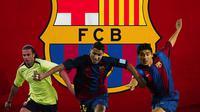 Barcelona - Thiago Motta, Ricardo Quaresma, Juan Roman Riquelme (Bola.com/Adreanus Titus)