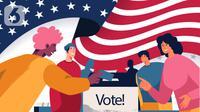 Ilustrasi Pilpres AS 2020, penghitungan suara atau voting. (Liputan6.com/Abdillah)