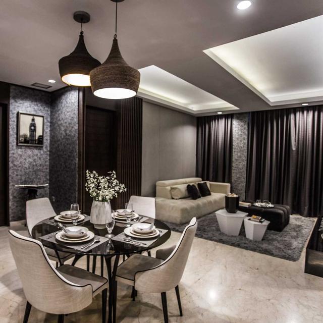 Desain Ruang Tamu Super Mewah mengintip desain interior apartemen bergaya klasik nan