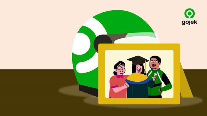 Gojek kembali mengumumkan program Beasiswa Gojek 2021 untuk anak mitra pengemudi. (Foto: Gojek)