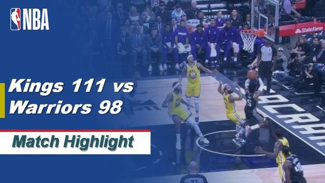 Berita Video Highlights NBA 2019-2020, Sacramento Kings Vs Golden State Warriors 111-98