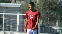 Kelana Noah Mahessa mendapatkan debut dari pelatih Shin Tae-yong dalam laga uji coba saat Timnas Indonesia U-19 menang 4-0 atas Hajduk Split. (dok. PSSI)