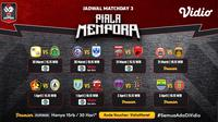 Pertandingan lengkap Piala Menpora 2021 dapat disaksikan melalui platform streaming Vidio dan Indosiar. (Dok. Vidio)