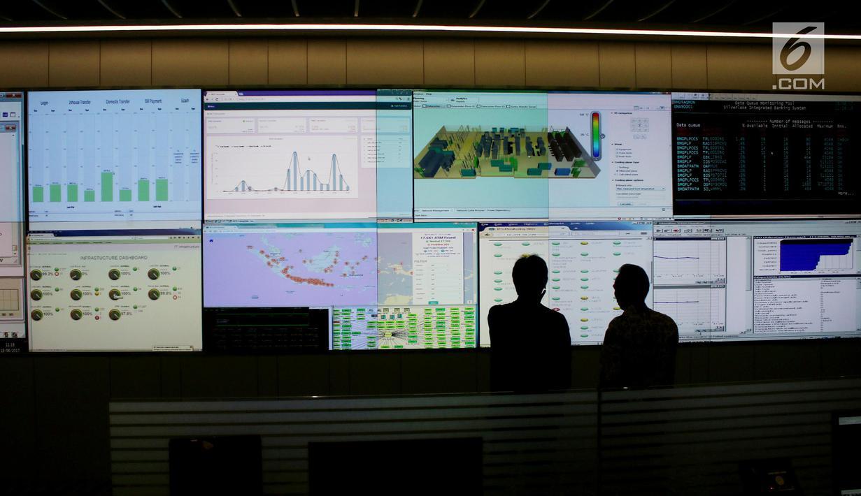 Begini Suasana Monitoring Transaksi Atm Mandiri Jelang Lebaran Bisnis Liputan6 Com