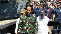 Presiden Jokowi tinjau kondisi Kota Palu usai gempa. (Liputan6.com/Septian Deny)