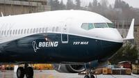 Ilustrasi pesawat Boeing 737 MAX (AFP Photo)
