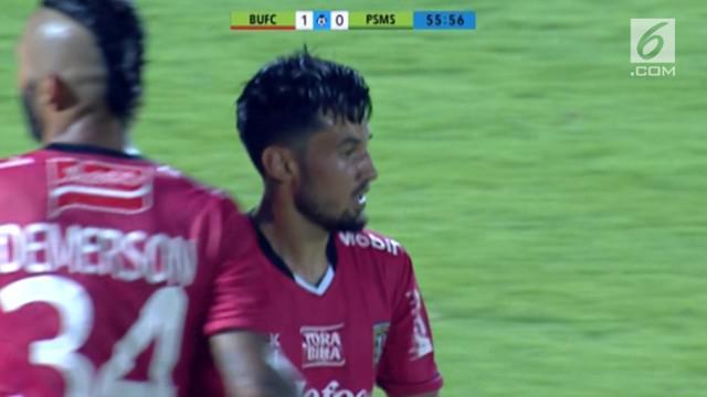 Laga perdana Liga 1 2018 sukses Bali United meraup tiga poin. Menjamu PSMS Medan di Stadion Kapten I Wayan Dipta, Gianyar, anak asuh Widodo Cahyono Putro itu menang 1-0.