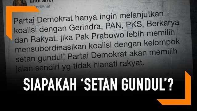 Wakil Sekretaris Jenderal Demokrat Andi Arief kembali menyebut istilah baru yang menganggu koalisinya antara Gerindra, Berkarya, PKS, dan PAN. Dia menyebut dengan istilah 'setan gundul' di akun Twitternya.