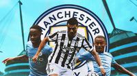 Manchester City - Raheem Sterling, Cristiano Ronaldo, Gabriel Jesus (Bola.com/Adreanus Titus)