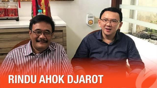 Basuki Tjahaja Purnama (BTP) bertemu dengan Djarot Saiful Hidayat setelah keluar dari penjara. Pertemuan ini diunggah Happy Djarot di akun Instagramnya.