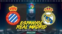 La Liga: Espanyol vs Real Madrid. (Bola.com/Dody Iryawan)