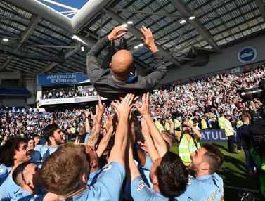 FOTO: Selebrasi Manchester City Usai Raih Juara Liga Inggris