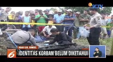 Seorang wanita ditemukan hangus terbakar bersama tempat tidur di rawa-rawa Ogan Ilir, Sumatra Selatan.