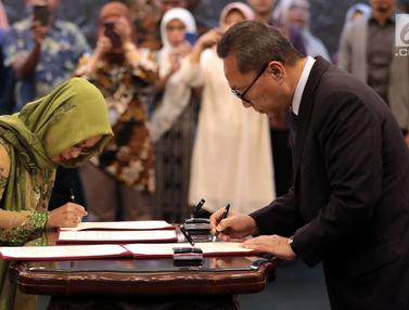 Zulkifli Hasan Lantik Empat Anggota MPR PAW