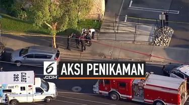 4 orang warga terbunuh setelah ditikam seorang pemuda di California, Amerika Serikat. Aksi tersebut juga melukai 2 warga lainnya.