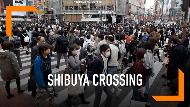 Berkunjung ke Jepang tak lengkap rasanya jika tak mencoba berjalan ramainya di Shibuya Crossing.