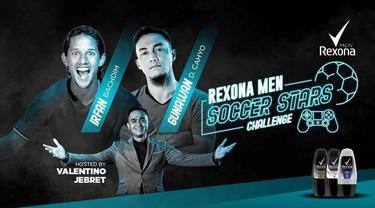 Berita video Irfan Bachdim menang tipis 3-2 atas Gunawan Dwi Cahyo pada episode 5 Rexona Men Soccer Stars Challenge pada Jumat (29/5/2020).