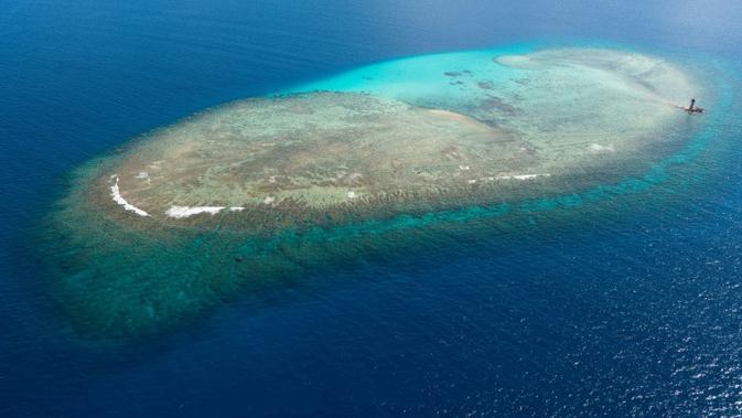 Terumbu karang di Kaledonia Baru di Pasifik selatan. (File AFP)