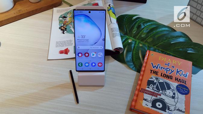 Samsung resmi perkenalkan Galaxy Note 10 dan Note 10 Plus. (Liputan6.com/ Andina Librianty)