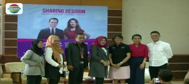 Presenter SCTV dan Indosiar gelar sharing session news anchor di Yogyakarta untuk mengawali acara Emtek Goes to Campus (EGTC).
