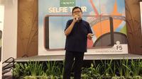 Aryo Meidianto, PR Manager Oppo Indonesia gelaran #OppoSelfieTour #TourDeManado di Four Points by Sheraton, Manado. (Liputan6.com/Jeko Iqbal Reza)