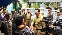 Gubernur Basuki Tjahaja Purnama atau Ahok saat berkunjung ke Kepulauan Seribu. (Liputan6.com/Ahmad Romadoni)