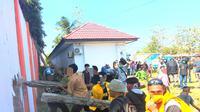 Aksi demonstrasi mahasiswa di Kendari, menyebabkan 2 orang mahasiswa tewas, Kamis (26/9/2019).(Liputan6.com/Ahmad Akbar Fua)