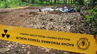 Sebidang tanah di RT 17/04 Perumahan Batan Indah, Setu, Kota Tangerang Selatan yang mengandung radioaktif. (Liputan6.com/Pramita Tristiawati)