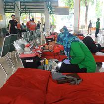 Peringati Hari AIDS Sedunia, UNIKA Atma Jaya gelar donor darah massal. (Foto: Liputan6.com/Winda Nelfira)
