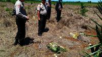 Lokasi lahan dibakar yang menewaskan seorang warga Mamuju Tengah, Sulawesi Barat. (Liputan6.com/Eka Hakim)