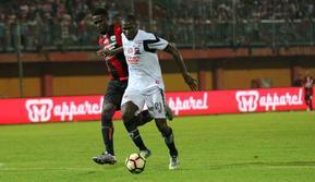 Karl Max Danny Barthelemy seleksi di Madura United. (Bola.com/Aditya Wany)