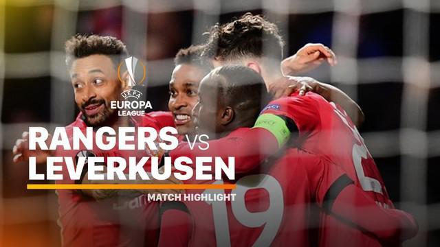 Berita video highlights leg I babak 16 besar Liga Europa 2019-2020 antara Rangers melawan Bayer Leverkusen yang berakhir dengan skor 1-3 di Ibrox Stadium, Kamis (12/3/2020).