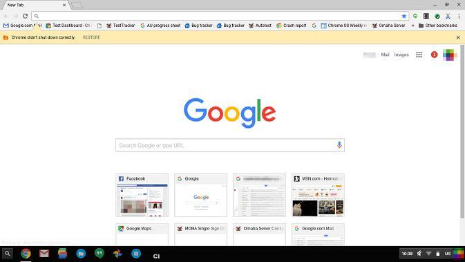 Tampilan Google Chrome dengan Material Design (sumber: thenextweb.com)