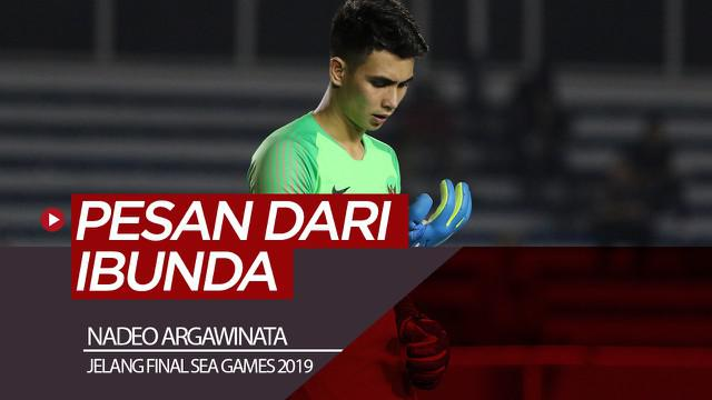 Berita video kiper Timnas Indonesia U-22, Nadeo Argawinata, menghubungi ibundanya dan mendapat pesan penting jelang laga final sepak bola putra SEA Games 2019 melawan Vietnam, Selasa (10/12/2019).