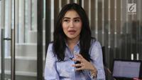 Penyanyi dangdut Ayu Ting Ting saat media visit ke kantor Liputan6 di Jakarta, Selasa (5/6). (Liputan6.com/Arya Manggala)