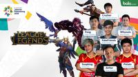 Atlet League of Legends (LoL) Asian Games 2018. (Bola.com/Dody Iryawan)