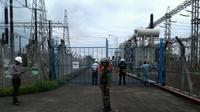 Gardu Induk Tegangan Tinggi (Gitet) di Kabupaten Kuningan, Jawa Barat. (Liputan6.com/Panji Prayitno)
