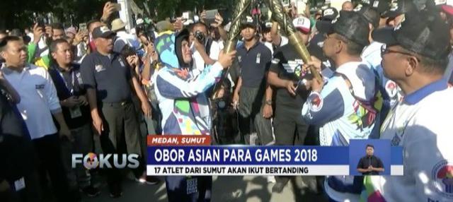 Obor diarak mulai dari kantor Wali Kota Medan, Lapangan Benteng, Jalan Raden Saleh, Jalan Brigjen Katamso, Jalan Diponegoro, dan berakhir di Jalan Imam Bonjol.