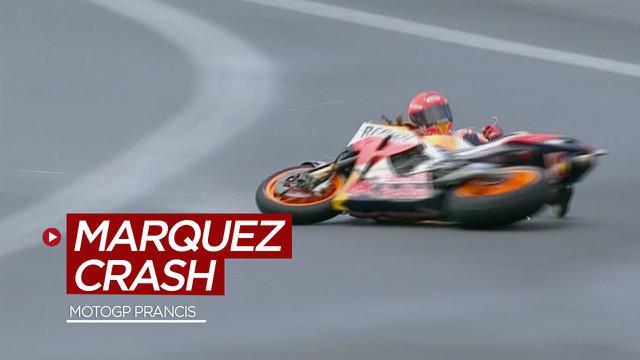 Berita video momen-momen penting yang terjadi di MotoGP Prancis 2021, termasuk saat Marc Marquez terjatuh dua kali.