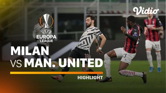 Berita video highlights Liga Europa, Paul Pogba bawa Manchester United menang 1-0 atas AC Milan, Jumat (19/3/21)