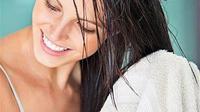 Ilustrasi rambut basah. (via: istimewa)