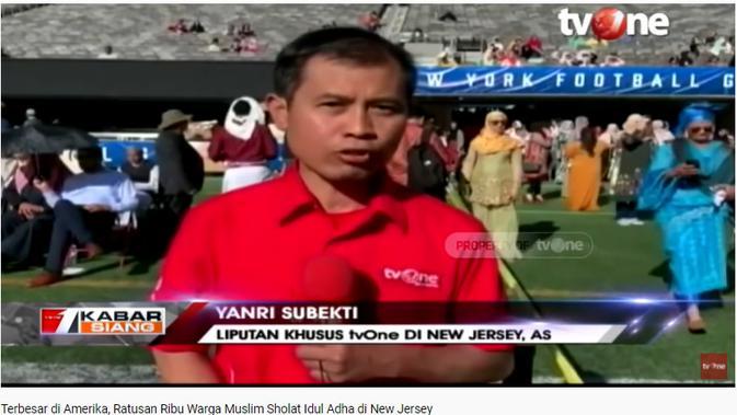 Cek Fakta Liputan6.com mendapati klaim video umat muslim Amerika Serikat Salat Idul Adha terbesar pada 2021