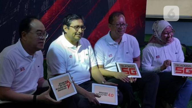 Uji coba 5G Telkomsel di Batam. Liputan6.com/Agustinus Mario Damar