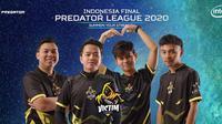 Tim Victim Rise menjadi juara PUBG pada final kualifikasi Predator League 2020.