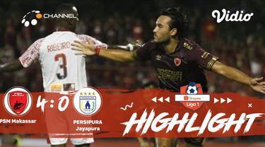 Berita video highlights Liga 1 2019, PSM Makassar vs Persipura Jayapura yang berakhir dengan skor 4-0 di  Stadion Andi Mattalatta Mattoanging, Senin (18/11/2019).