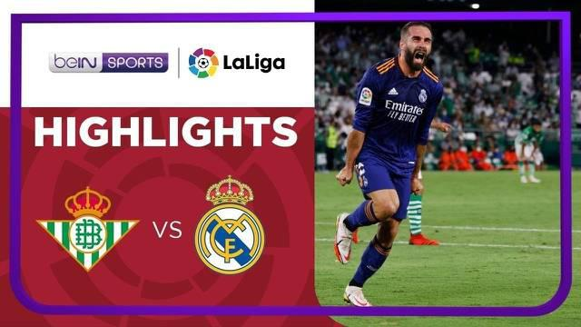 Berita video highlights Liga Spanyol, Real Madrid menang tipis atas Real Betis 1-0, Minggu (29/8/21).