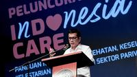 "Wishnutama dalam kampanye nasional ""Indonesia Care."" (Foto: atas perkenan Kepala Biro Komunikasi Kemenparekraf RI)"