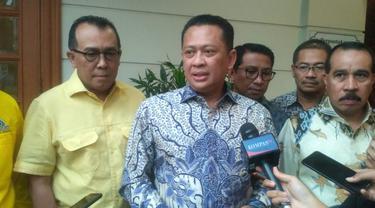Wakil Koordinator Bidang (Wakorbid) Pratama Partai Golkar Bambang Soesatyo bertemu dengan BJ Habibie, Senin (15/7/2019).