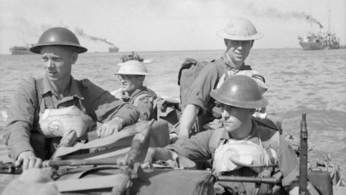Tentara Sekutu di Pulau Ramree, Myanmar (Wikipedia/Public Domain)