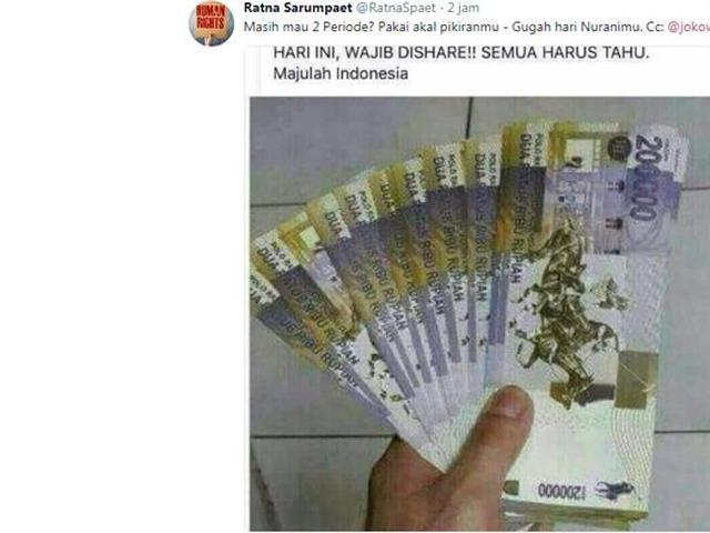 Gambar Uang Lima Ratus Ribu Cek Fakta Beredar Uang Pecahan Rp 200 000 Di Tengah Melemahnya